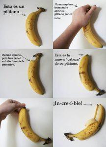 pelar correctamente un plátano